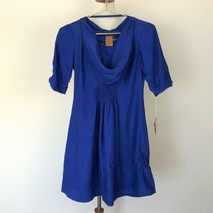 Ali Ro Cowl Neck Blue Size 0 Anthropologie Dress